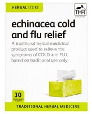 Herbalstore echinacea cold and flu relief british