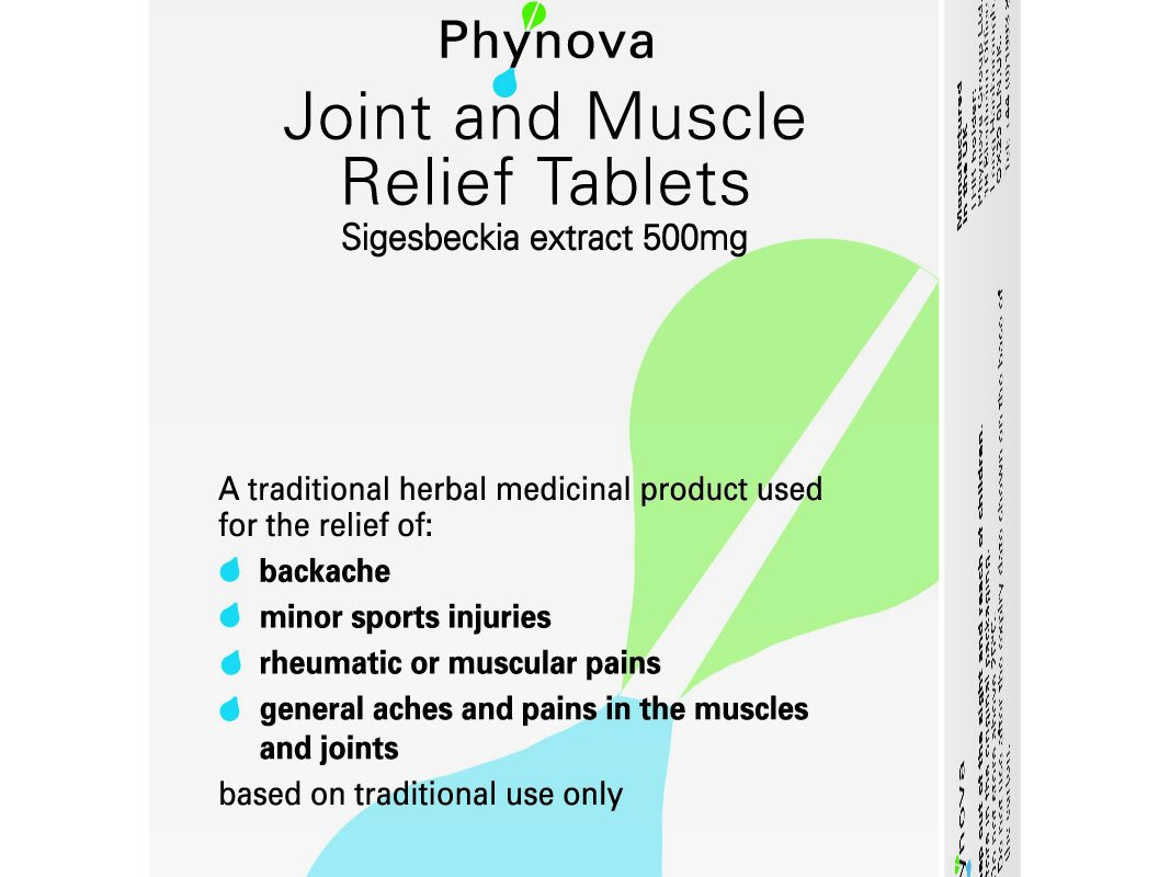 British herbal medicine association - Phynova Joint And Muscle Relief Tablets
